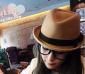 2012特价春季新款呛口小辣椒驼色卷边羊毛呢礼帽出游女士爵士帽子